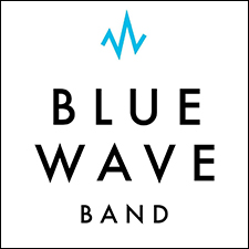 Blue Wave Band Graphic