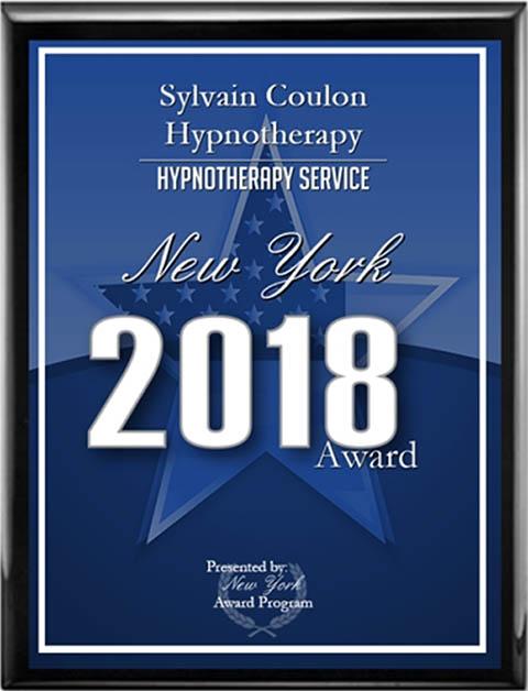Sylvain Coulon Hypnotherapy New York 2018 Awards