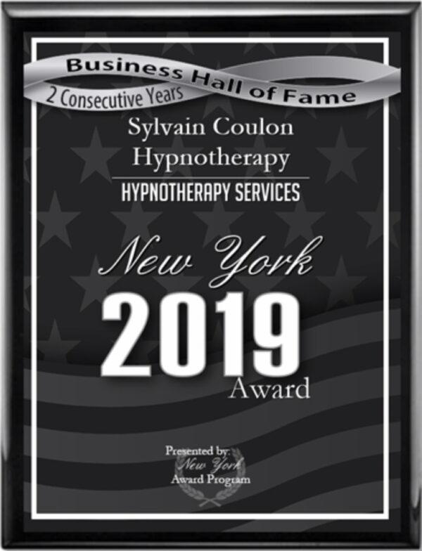 Sylvain Coulon Hypnotherapy New York 2019 Awards