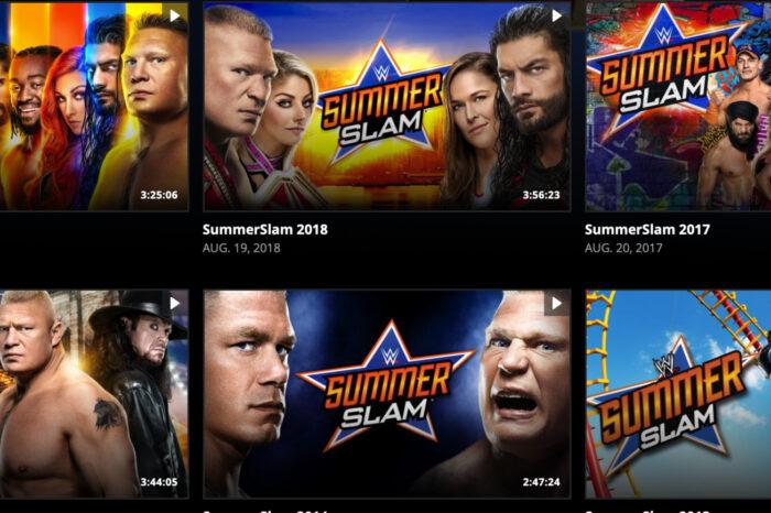 WWE Streams Past Summer Slams Free