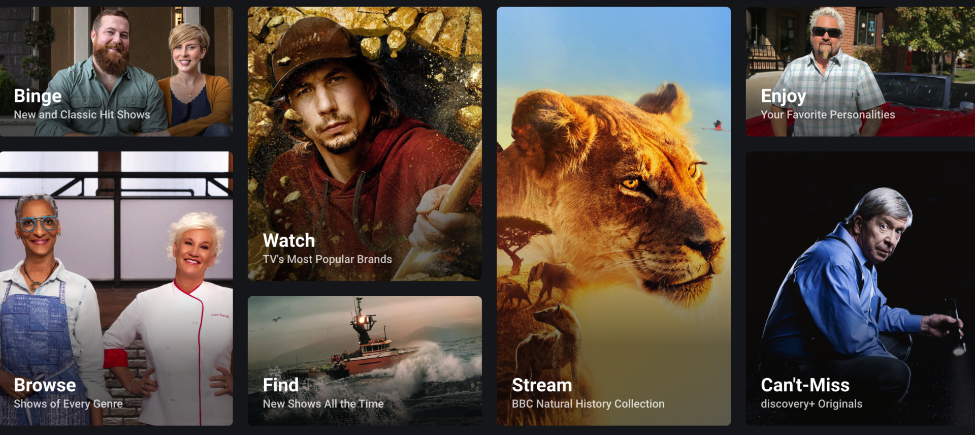 Discovery Plus Choices