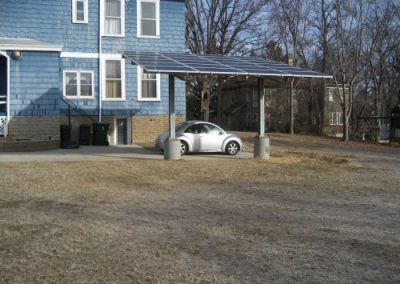 5.28 kW system forming a carport next to the customers house