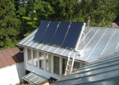 Schuco solar hot water system installed in Yellow Springs, OH (6 kW Thermal).