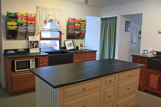 Vermont Soapstone showroom in Perkinsville, VT