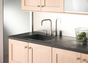Soapstone can look as at home in a modern style kitchen as in a historic renovation.