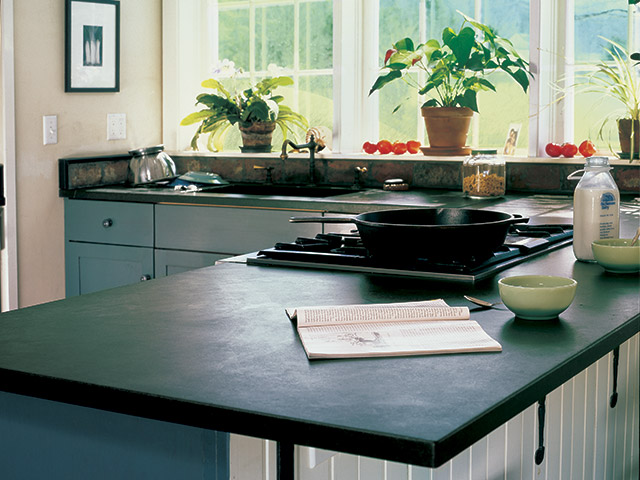 Vermont Soapstone makes stunning custom kitchen counters and custom sinks