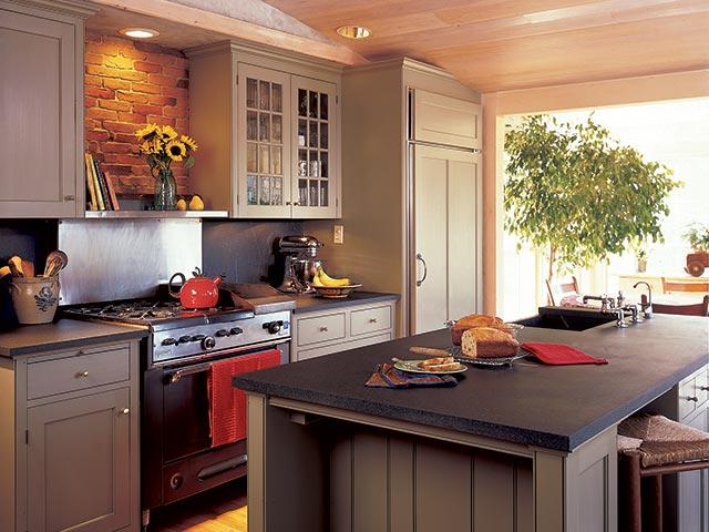 Beautiful kitchen featuring Vermont Soapstone custom countertops