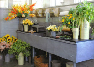 Oversized potting sink and counter by Vermont Soapstone.