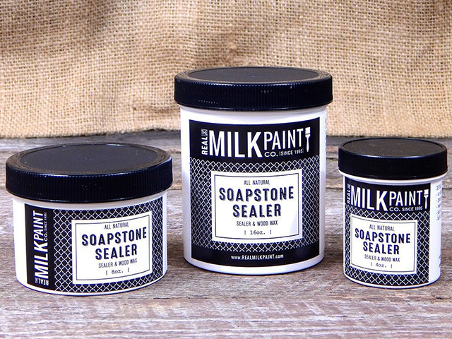 The Milk Paint Company Soapstone Sealer is a wax alternative to mineral oil for treating Vermont Soapstone kitchen countertops and sinks.