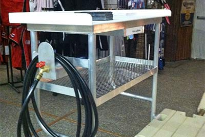 large, 4 foot fish cleaning station