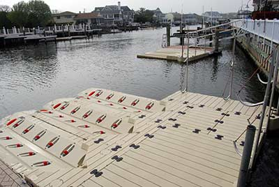 large dock with three port max split tails