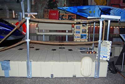 rope railing stand - double rope