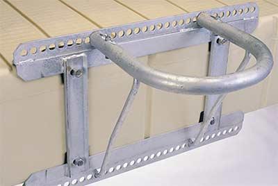 EZ Dock anchoring - piling bracket and hoop