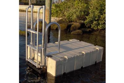 FloatStep custom ladder on an EZ Dock