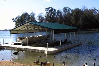 EZ Dock metal roof system