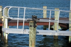 annual dock service - raise your gangway for winterizing