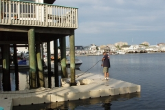 We recommend power washing your docks at the beginning of each season.