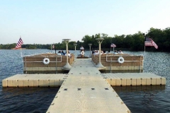 Commercial application - boaters church with railing posts