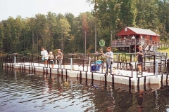 Commercial application - camps and parks - swim and fishing platform
