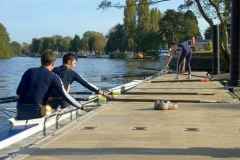 Education application - rowing - shown with solar lights and cleats