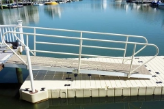 Gangways and Fixed Piers - Custom gangway with flow through decking.
