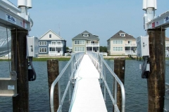 Gangways and Fixed Piers - A long aluminum pier.