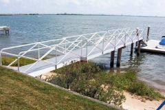 Gangways and Fixed Piers - Aluminum pier and gangway.