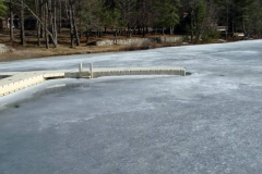 As the lake thaws in spring, EZ Docks are undamaged.