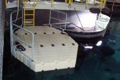 EZ Dock in a public aquarium