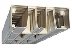 a cross section of an EZ Dock, showing the dock's construction