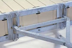 One of the many dock anchoring systems we offer