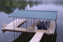 picture of EZ Dock roof system