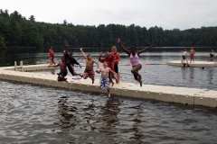 summer camp kids enjoy EZ Docks on the lake