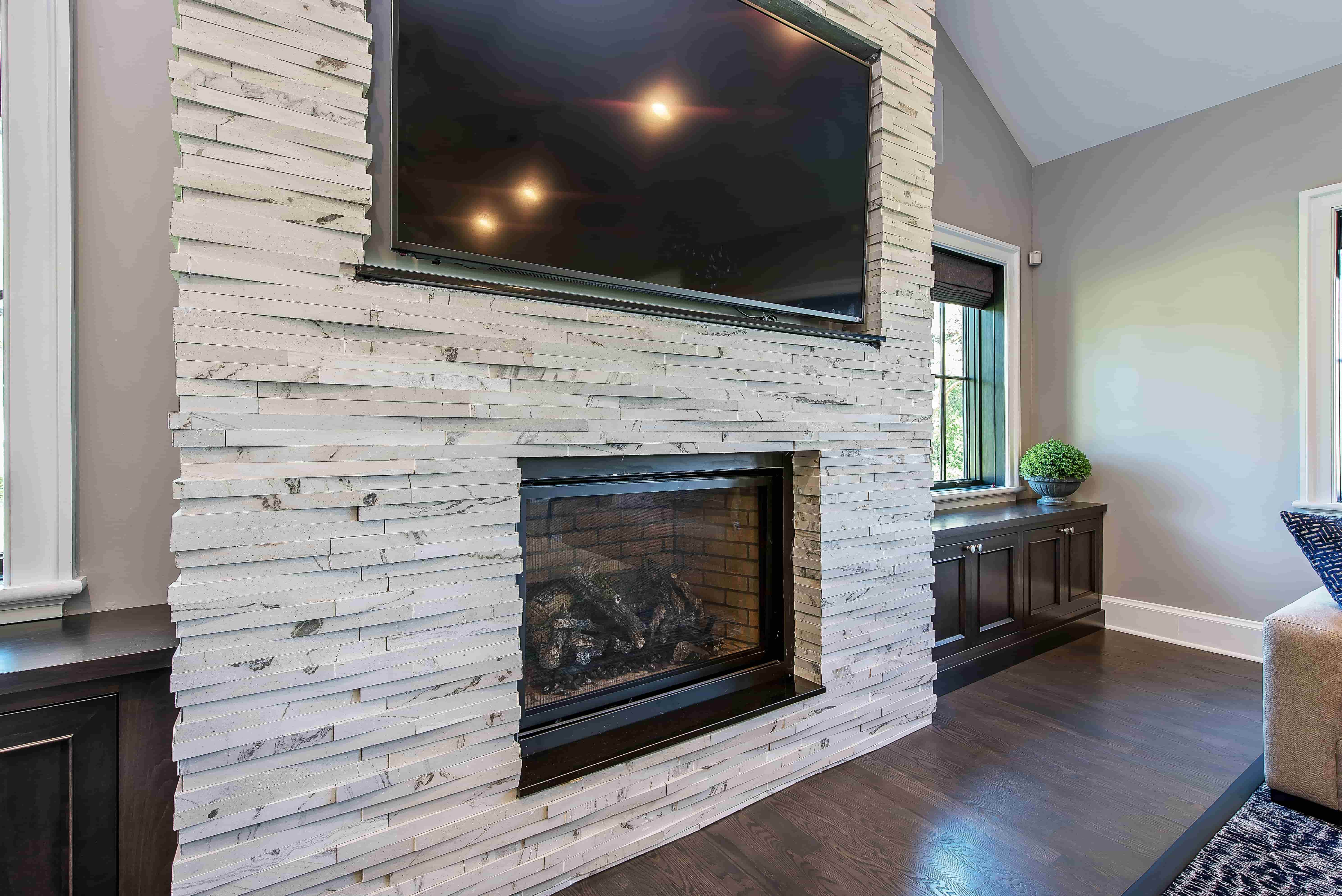Modern Farmhouse Family Room Fireplace