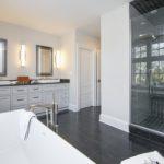 Master Bathroom Herringbone Shower Tile