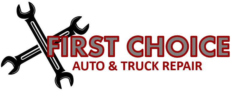 first choice auto and truck repair logo