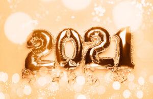 2021 gold balloons