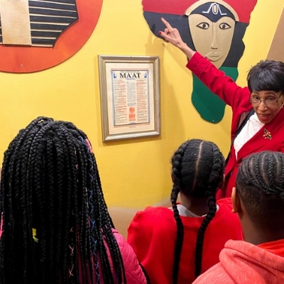 a group of children learn about black history