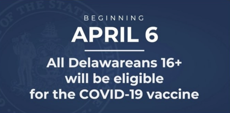 beginning april 6 all delawareans 16+ will be eligible for the covid-19 vaccine