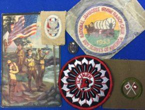 Vintage Boy Scout Patches & Card Eagle scout, Jamboree Merit Badge