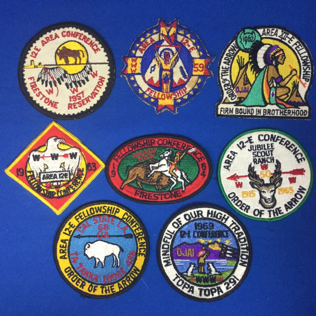Area 12 E Order Of The Arrow Patches