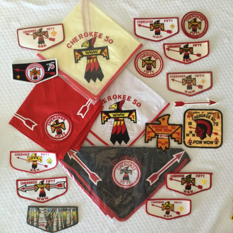 Cherokee Lodge 50 Order Of The ACherokee Lodge 50 Order Of The Arrow Patches & Neckerchiefs