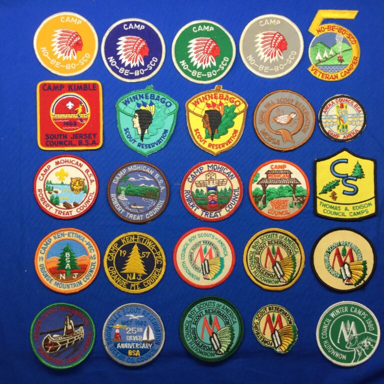 New Jersey Scout Camp Patches
