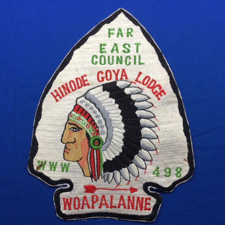 OA Hinode Goya Lodge 498 Woapalanne Chapter Jacket Patch