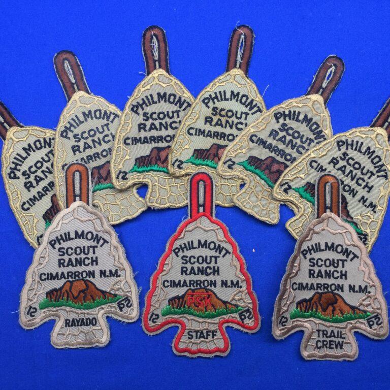 Philmont Scout Ranch Arrowhead Patches