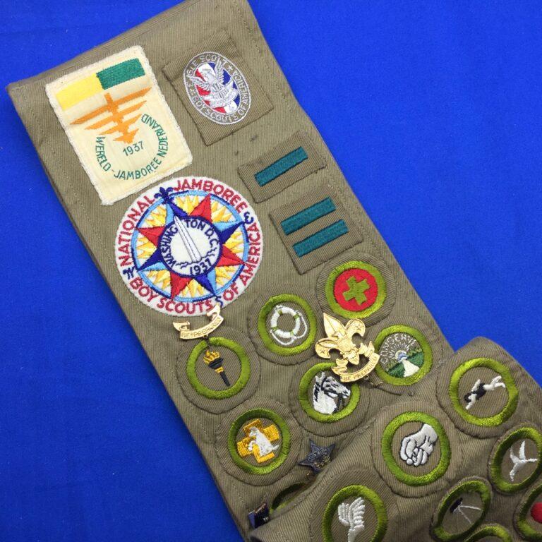 Sash With 1937 National & World Jamboree Patches