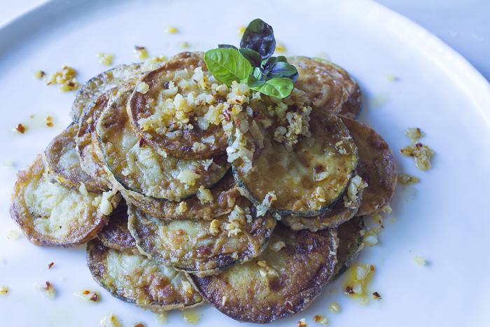 Fried Summer Zucchini with Garlic – Lightened-Up