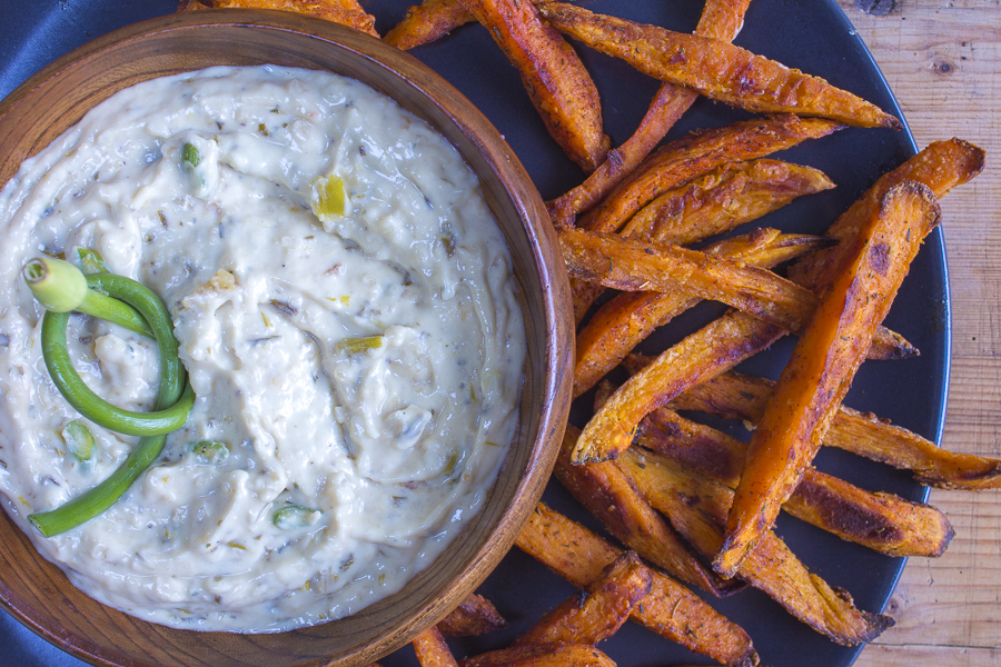 Roasted Heads of Garlic and Toasted Onion create a fabulous Healthy Dip!