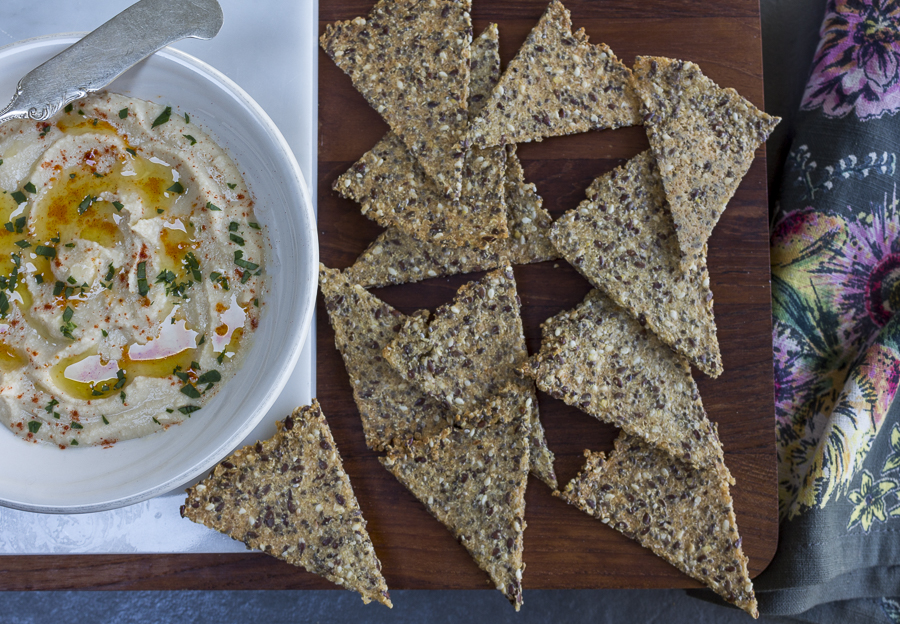 Homemade crispy and delicious crackers,  gluten-free,  dairy free and sugar free...delicious!