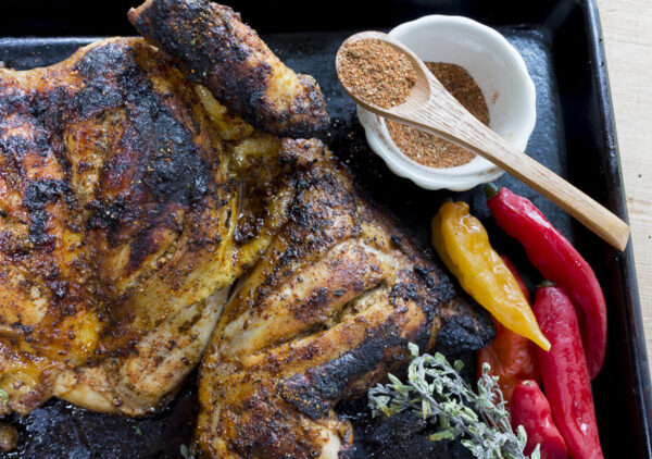 This wonderfully aromatic chicken is big on flavor – make my Peruvian Spice Blend for an authentic spit-roasted chicken with a tender flesh and crispy skin